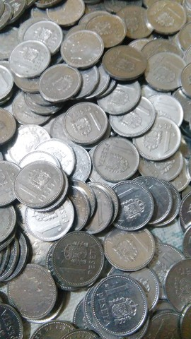 Lote De 500 Monedas De Una Peseta.