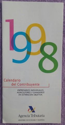 CALENDARIO DEL CONTRIBUYENTE,  AÑO 1998 - foto 1