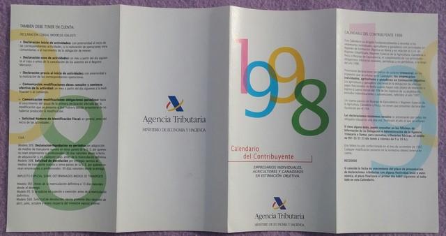 CALENDARIO DEL CONTRIBUYENTE,  AÑO 1998 - foto 3