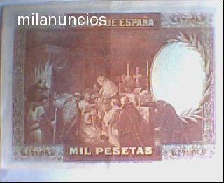 Billete De 1000 Pts De 1928 San Fernando