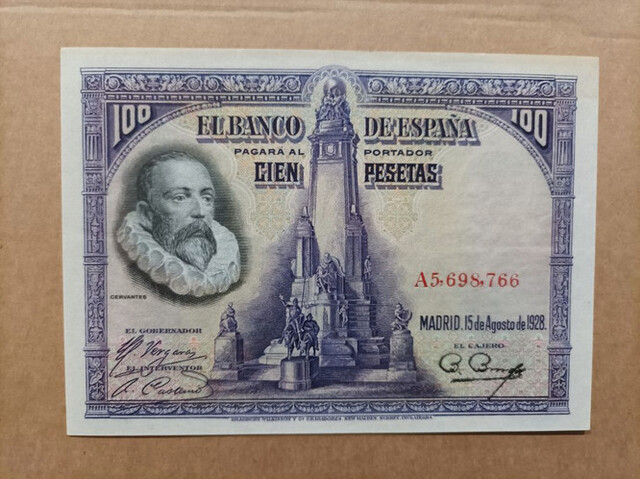 100 Pts 1928 Serie A,Sc/Plancha