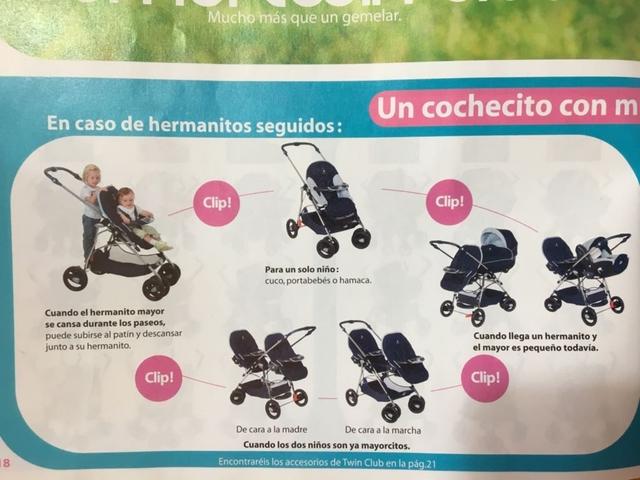 COCHECITO GEMELAR TWIN CON PORTABEBÉS GR
