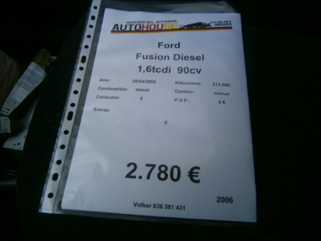 FORD - VENDIDO! FIESTA FUSION 1. 6HDI - foto 7