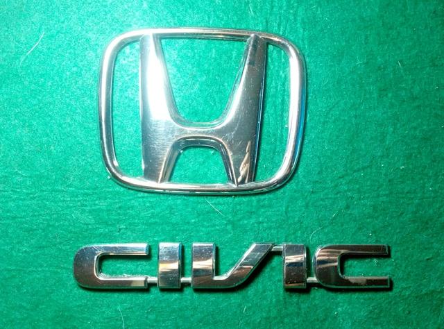Genuine Honda Civic 2001-2005 Civic Del Portón Trasero Placa//emblema