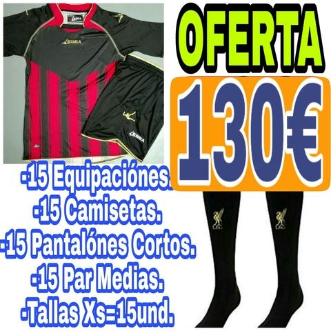 Equipación De Fútbol,  15Unds Completas.