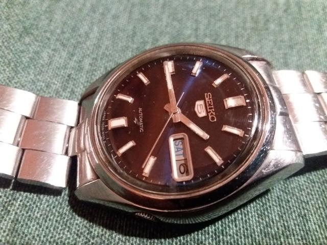 Reloj Seiko Date Just Azul Vintage