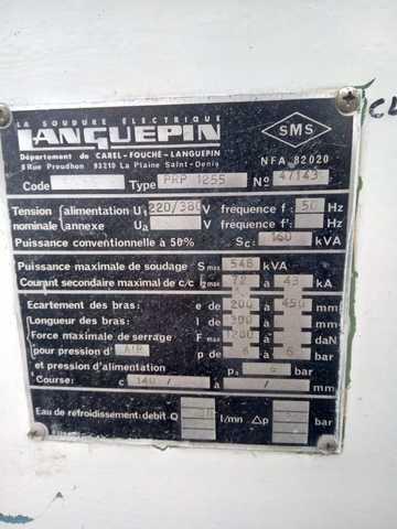 SOLDADORA AUTOMATICA LANGUEPIN PRP 1255 - foto 5