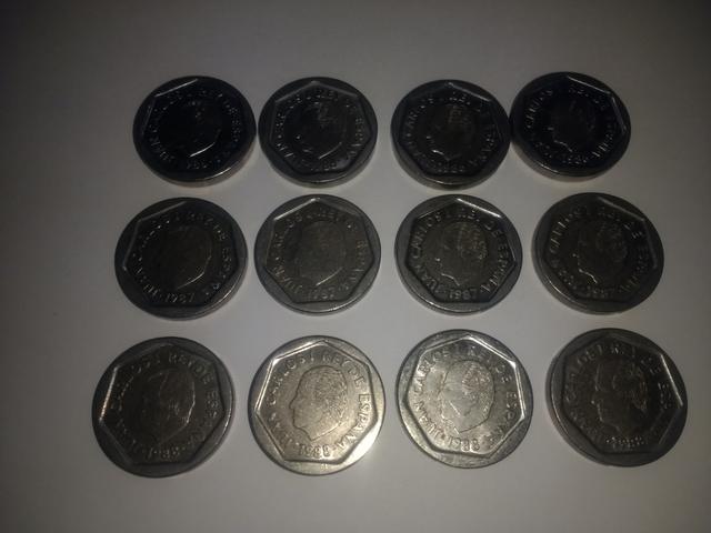 Lote De 12 Monedas De 200 Pesetas