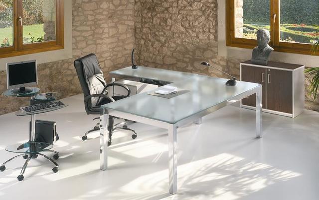 MIL ANUNCIOS.COM - Mesa de oficina en cristal para despacho