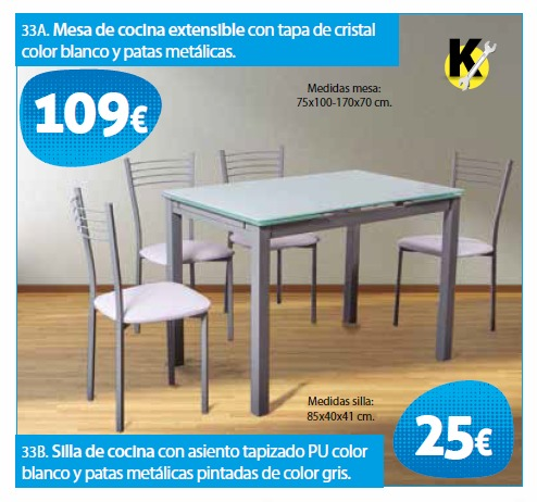 Mesas De Cocina Milanuncios.Mesa Cocina Extensible Cristal Metal