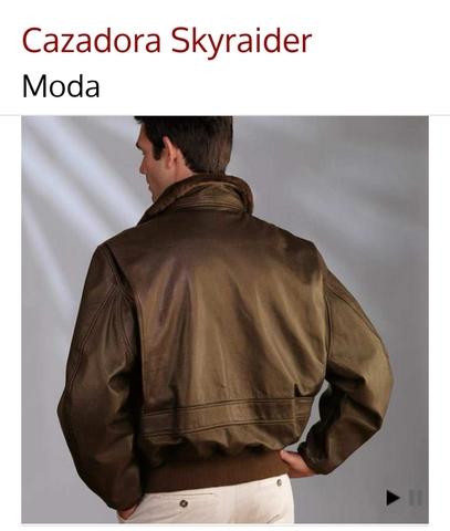 chaqueta piel aviador hombre xxxl