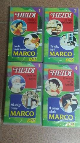 4 PELÍCULAS VHS DE HEIDI Y MARCO - foto 1
