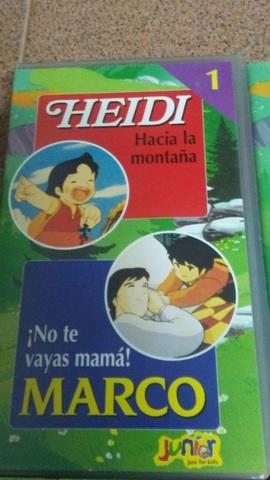 4 PELÍCULAS VHS DE HEIDI Y MARCO - foto 2