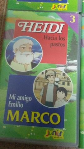 4 PELÍCULAS VHS DE HEIDI Y MARCO - foto 4