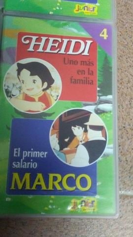 4 PELÍCULAS VHS DE HEIDI Y MARCO - foto 5