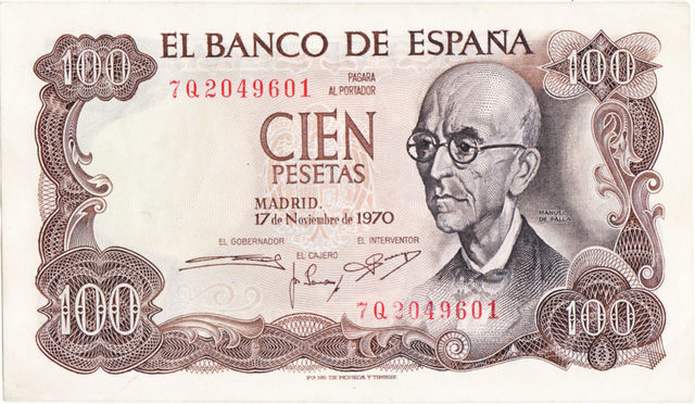 100 Billetes De 100 Pesetas