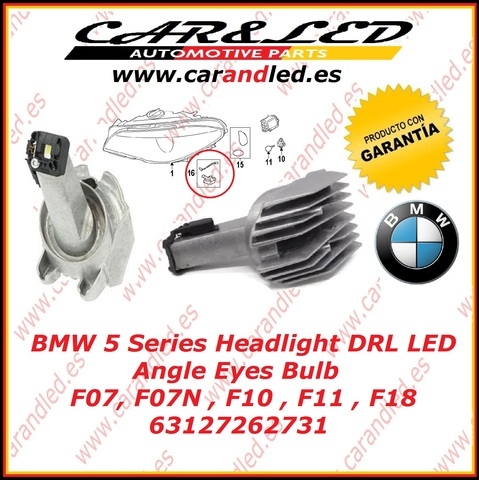 L/ámpara M/ódulo LED 63127262731/para Angel Eyes DRL BMW F07/GT LCI F10/F11/recambios reparaci/ón Faro Headlight Original Serie 5
