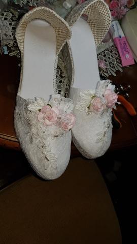 compra especial materiales de alta calidad zapatos para baratas ESPARTEÑA NOVIA, ZAPATILLA ESPARTO