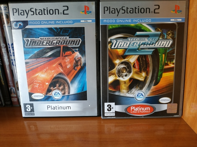 NEED FOR SPEED UNDERGROUND 1 Y 2 CAJAS