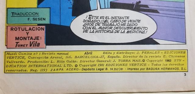 LA ZARPA DE ACERO,  N 1,  VÉRTICE 1981 - foto 2
