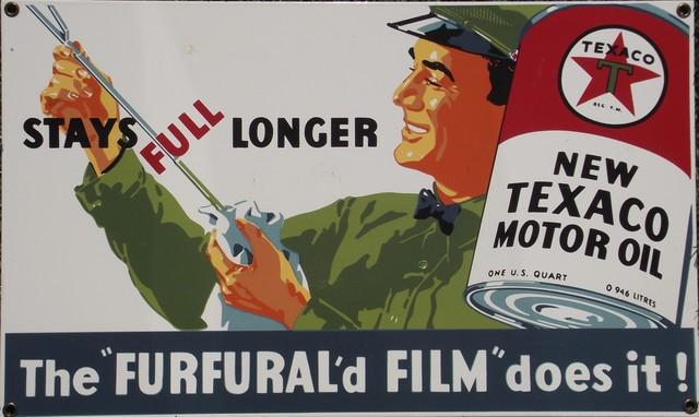 Placa Vintage Esmaltada, Texaco