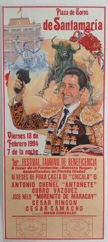CARTEL DE TOROS  DE BOGOTA 1994 - foto 1