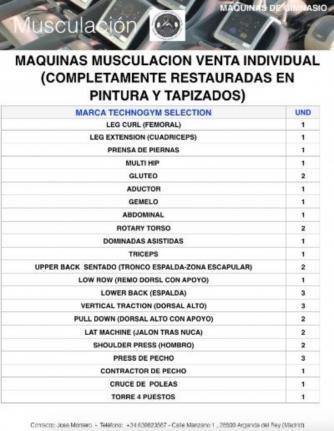 MAQUINAS MUSCULACION TECHNOGYM - foto 1