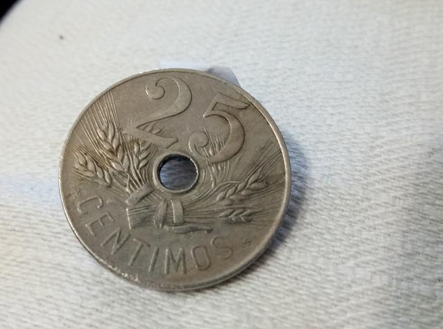 25 Centimos De Pts. 1927 Poca Circulacio