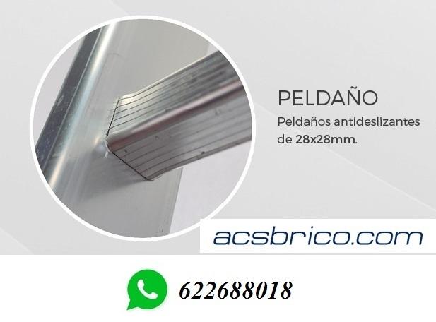 ESCALERAS PROFESIONAL ALUMINIO 1T – 2 M - foto 2