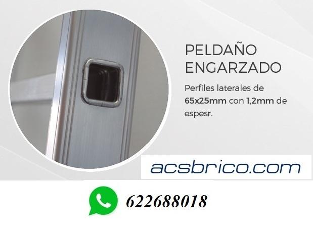 ESCALERAS PROFESIONAL ALUMINIO 1T – 4 M - foto 3