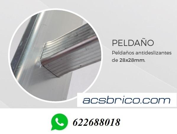 ESCALERAS PRO ALUMINIO – 3T – 2+2+2 - foto 2