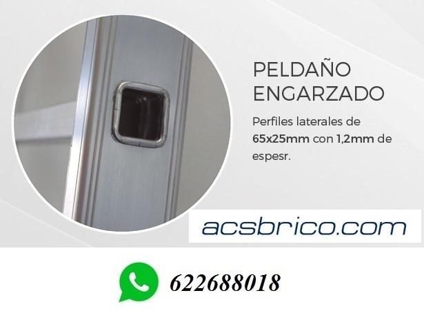 ESCALERAS PRO ALUMINIO – 3T – 2+2+2 - foto 3