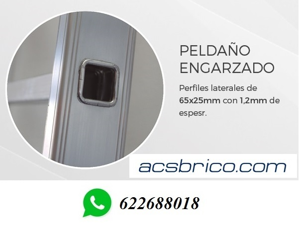ESCALERAS PROFESIONAL ALU 2T – 4+4 - foto 3