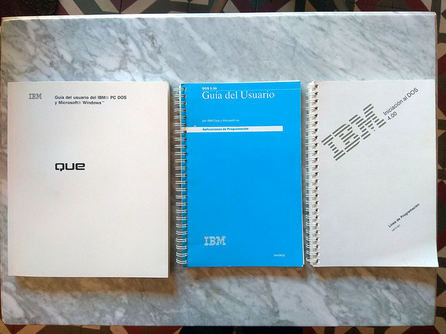 LOTE 3 MANUALES IBM PC MS DOS WINDOWS - foto 1