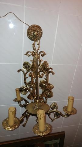 Candiles 45 cm de latón óptica metal candelabro Antik barroco candelabros