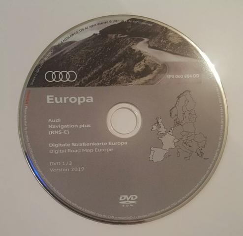 AUDI RNS-E DVD MAPAS EUROPA 2019 NUEVO - foto 1