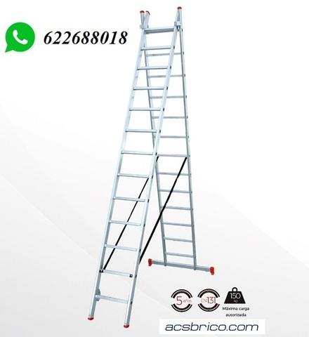 ESCALERAS TRAMOS ALUMINIO – 2T – 2, 5+2, 5 - foto 1