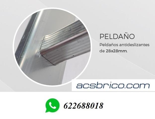 ESCALERAS TRAMOS ALUMINIO – 2T – 2, 5+2, 5 - foto 2