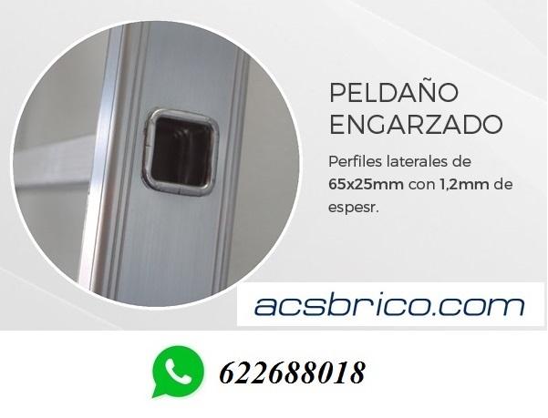 ESCALERAS TRAMOS ALUMINIO – 2T – 2, 5+2, 5 - foto 3