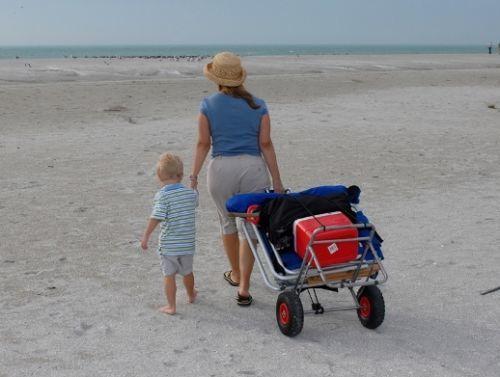 carro para transportar sillas de playa