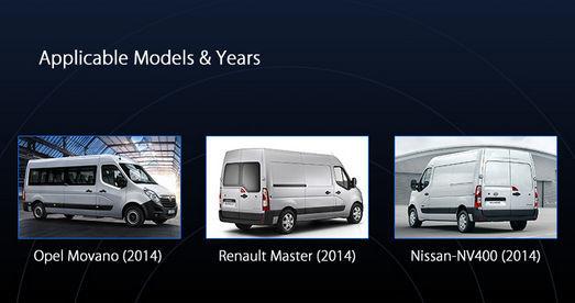 5 años de garantía Cámara de visión trasera para renault master nissan nv400 /& Opel Movano