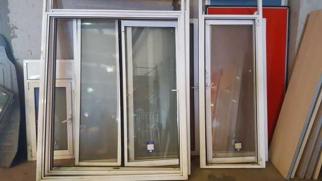 Balconera PVC 90 cm x 200 cm Vidrio doble hoja Climalit | Practicable 1 hoja Alto aislamiento termico y acustico