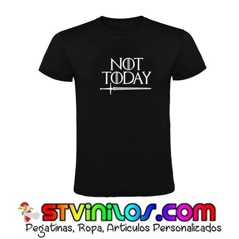 CAMISETA ARYA STARK NOT TODAY JUEGO TRO