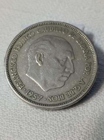 Moneda De 25 Pts.  1957 Estrella 64