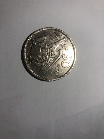 Preciosa Moneda Original  Franco De 1957