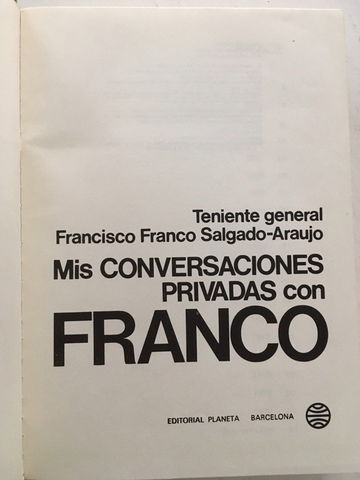 MIS CONVERSACIONES PRIVADAS CON FRANCO - foto 6