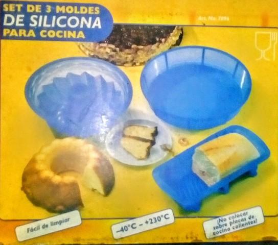 SET 3 MOLDES SILICONA PARA HORNO.  - foto 1