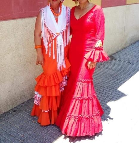Traje Flamenca Blanco De Segunda Mano En Huelva En Wallapop