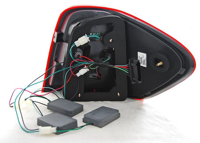 intermitentes de LED LED FAROS TRASEROS para VW t5 2003-2009 2 puertas popa rojo claro cristal