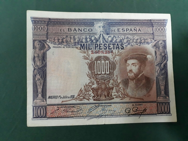 Billete 1000 Pesetas Año 1925.